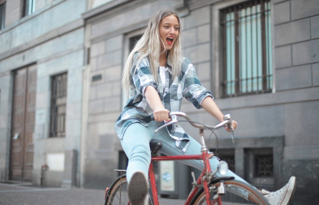SHE RIDES A BICYCLE