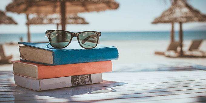 BOOKS SUNGLASSES BEACH