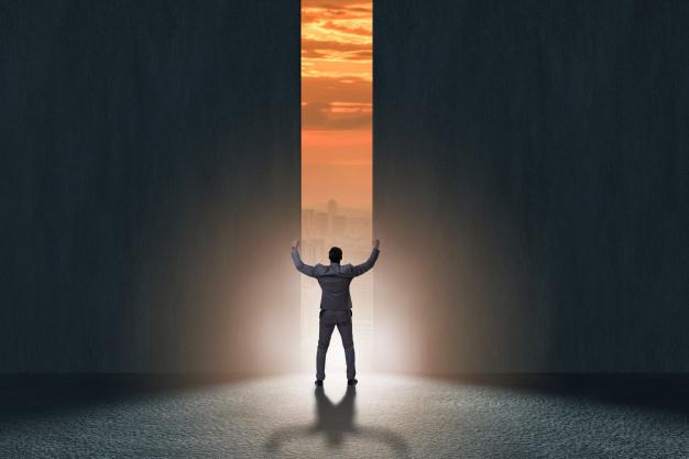 MAN OPENED DOOR