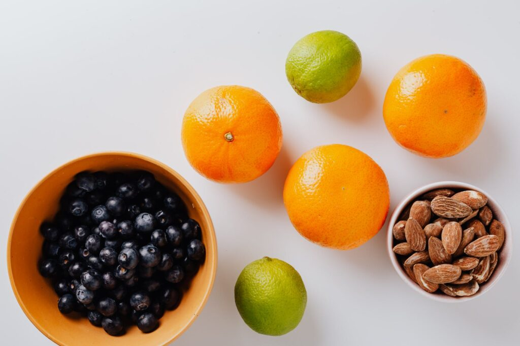 ALMONDS AND FRUITS
